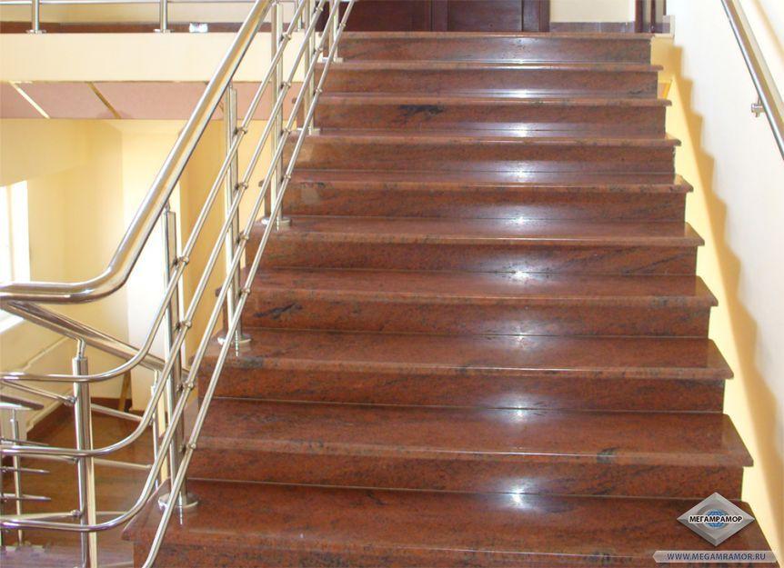 Лестница из гранита Мультиколор Ред